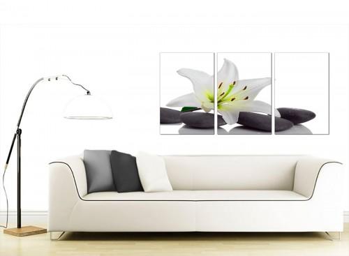 Set of 3 Floral Canvas Prints UK 125cm x 60cm 3024