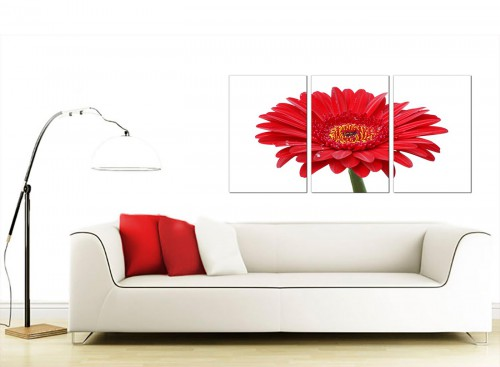Set of 3 Floral Canvas Prints UK 125cm x 60cm 3097