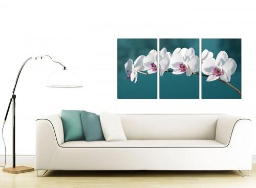 Set of Three Flower Canvas Art 125cm x 60cm 3115