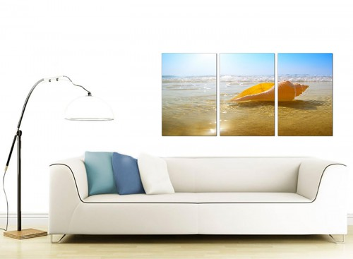 Three Panel Sea Canvas Art 125cm x 60cm 3148