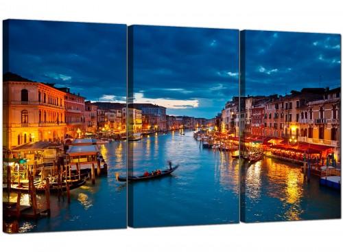 Venice Italy Gondola Grand Canal Blue City Canvas
