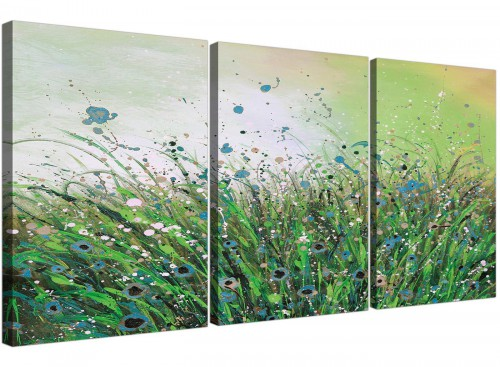 three panel floral canvas prints living room 3261