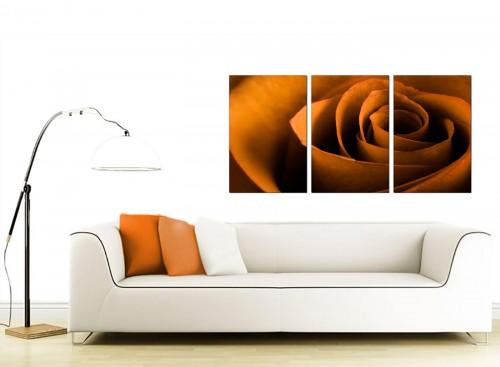 Set of 3 Flower Canvas Art 125cm x 60cm 3141
