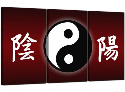 3 Panel Yin-Yang Canvas Art Oriental 3066