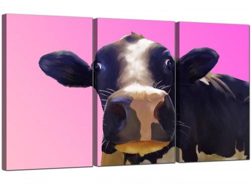 3 Panel Animal Canvas Prints UK Cow 3151