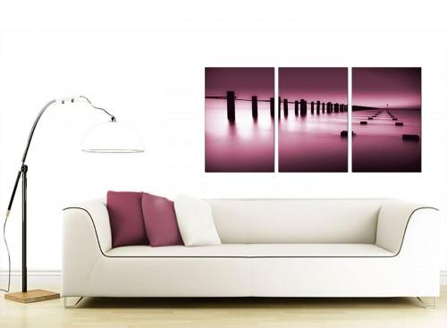 Set of 3 Seascape Canvas Prints 125cm x 60cm 3087