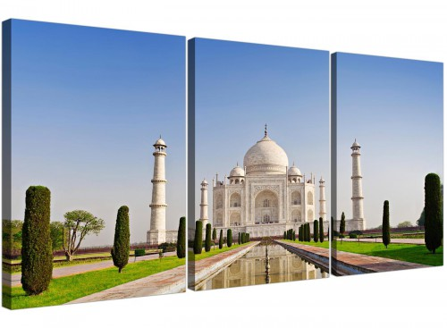 three part taj mahal canvas prints uk living room 3203