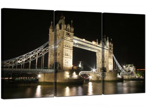 Set of 3 Cityscape Canvas Prints Tower Bridge England 3023