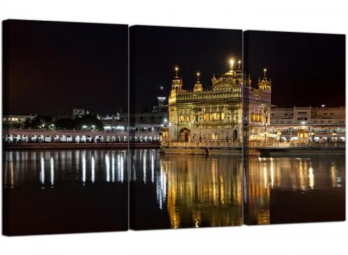 Sikh Golden Temple Amritsar Night Canvas