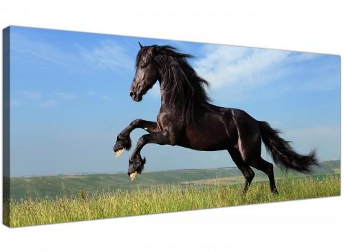 Modern Canvas Art Black Panoramic Landscape 1129
