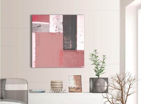 Blush Pink Grey Abstract Painting Canvas Wall Art Print - Modern ...