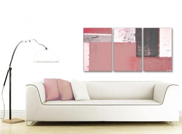 Blush Pink Grey Abstract Painting Canvas Wall Art Print - Multi 3 ...
