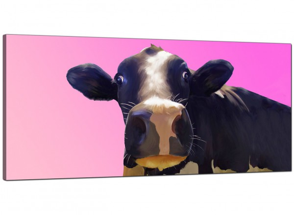 Large Pink Canvas Prints Of A Cow