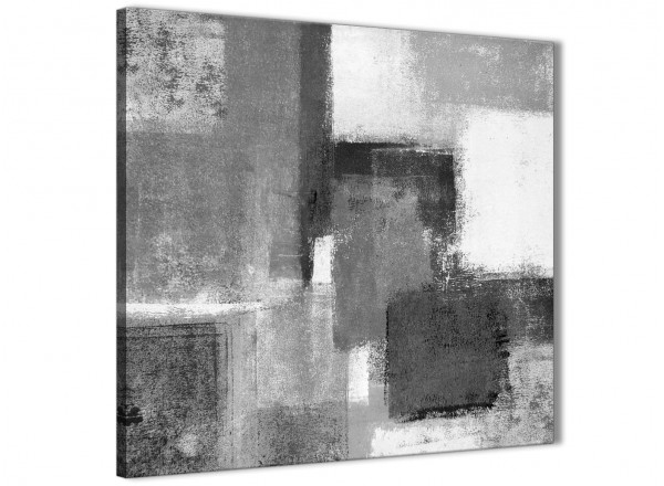 Black White Grey Abstract Office Canvas Wall Art Decorations 1s368l ...