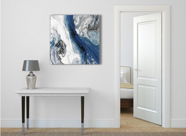 Blue and Grey Swirl Living Room Canvas Wall Art ... These fit the bill almost perfectly.