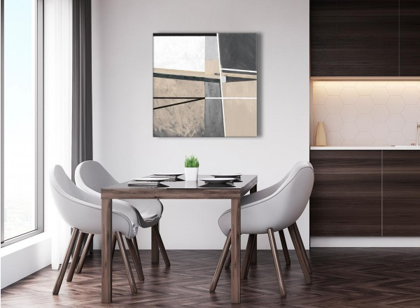 Beige Cream Grey Painting Abstract Living Room Canvas Pictures ...
