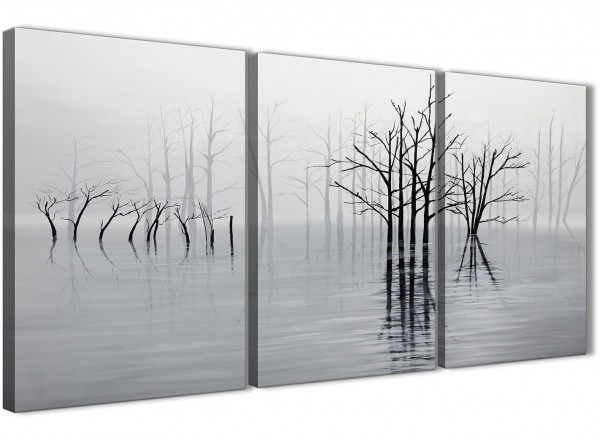 3 piece black white grey tree landscape painting bedroom canvas pictures decor 3416 126cm set of prints