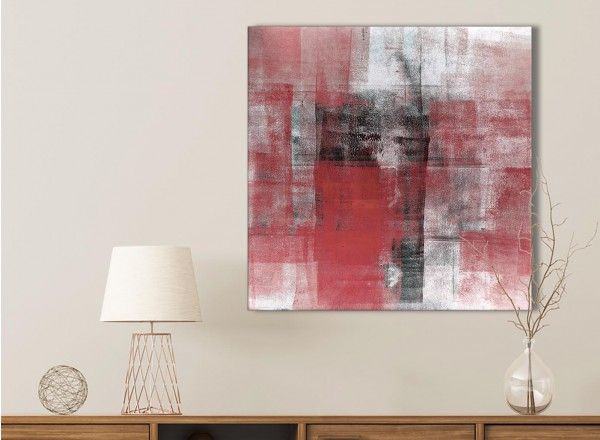 Red Black White Painting Bathroom Canvas Wall Art Accessories ...