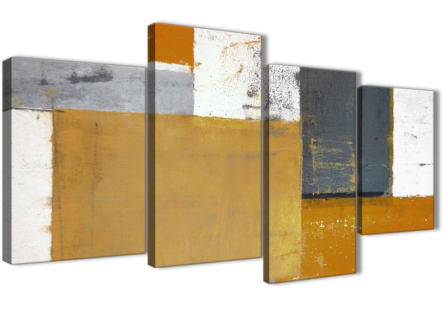 ecb2a4869fa Large Orange Grey Abstract Painting Canvas Wall Art Print .