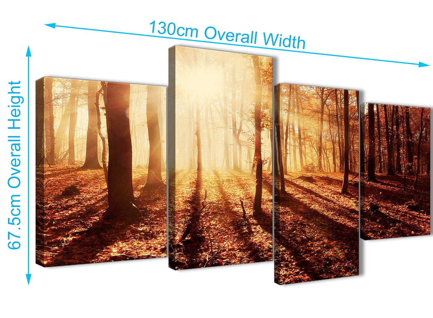 Beautiful 4 Piece Wall Art Set Ensign - Wall Art Collections ...