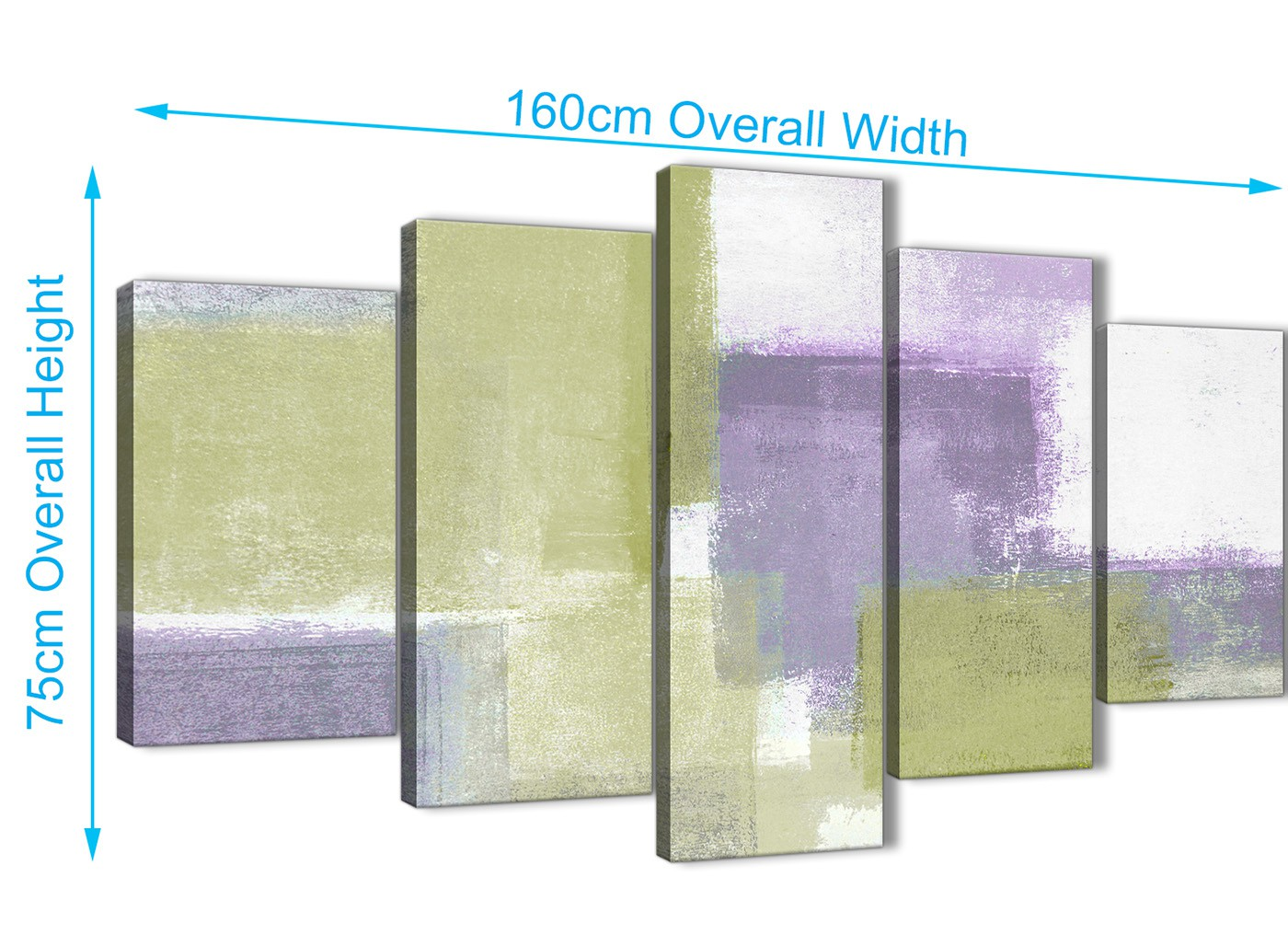 Extra Large Lime Green Purple Abstract Painting Canvas Wall Art ...