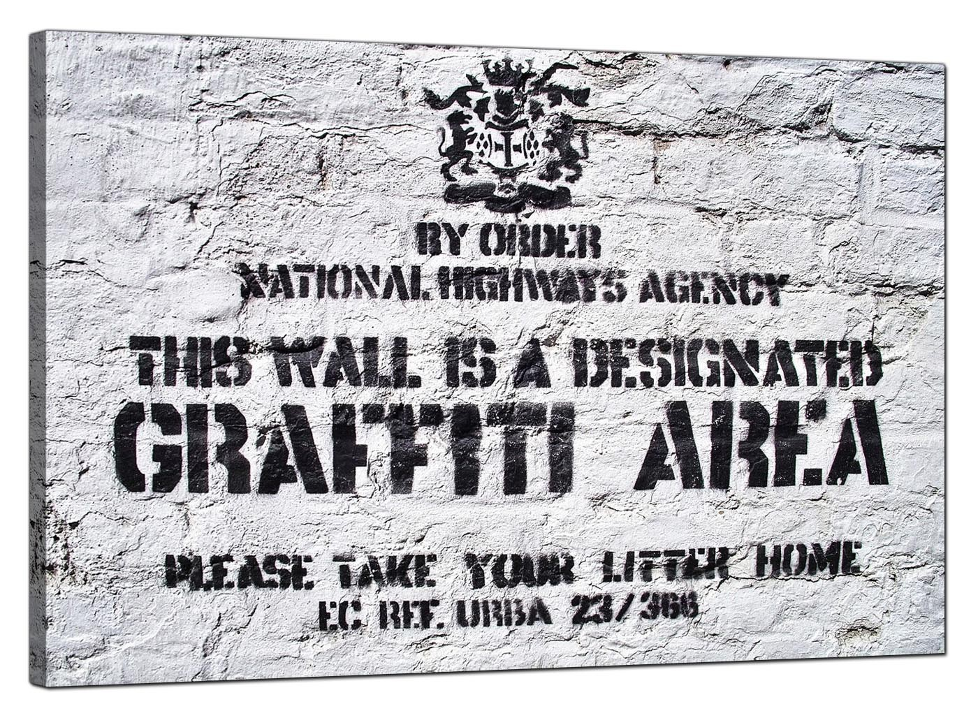 Banksy Canvas Prints Graffiti Area