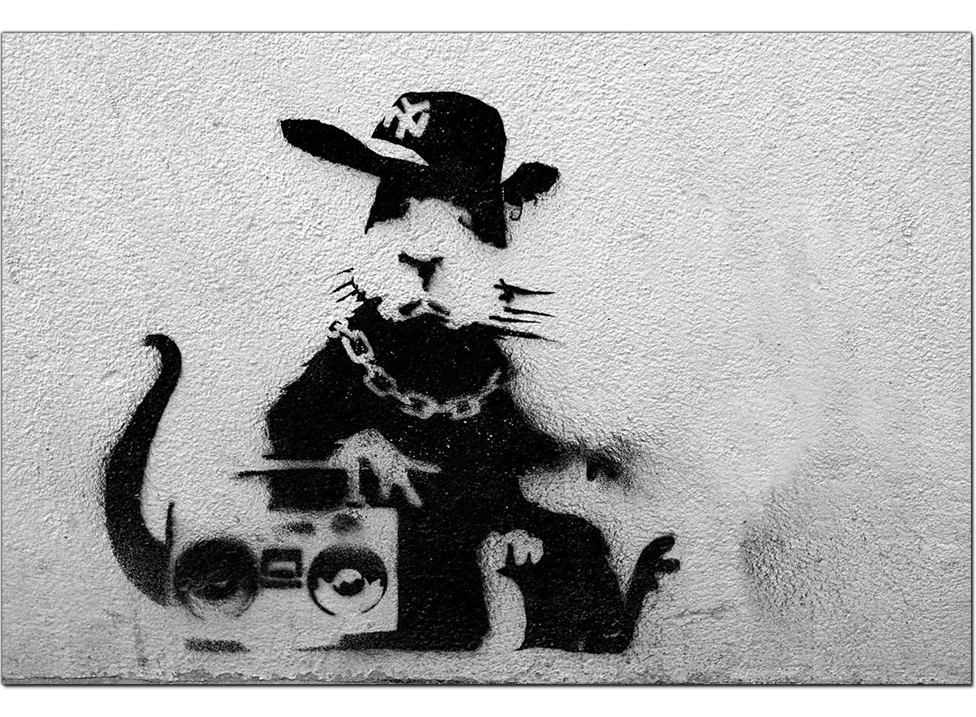 Banksy Canvas Prints Rat With A Boombox