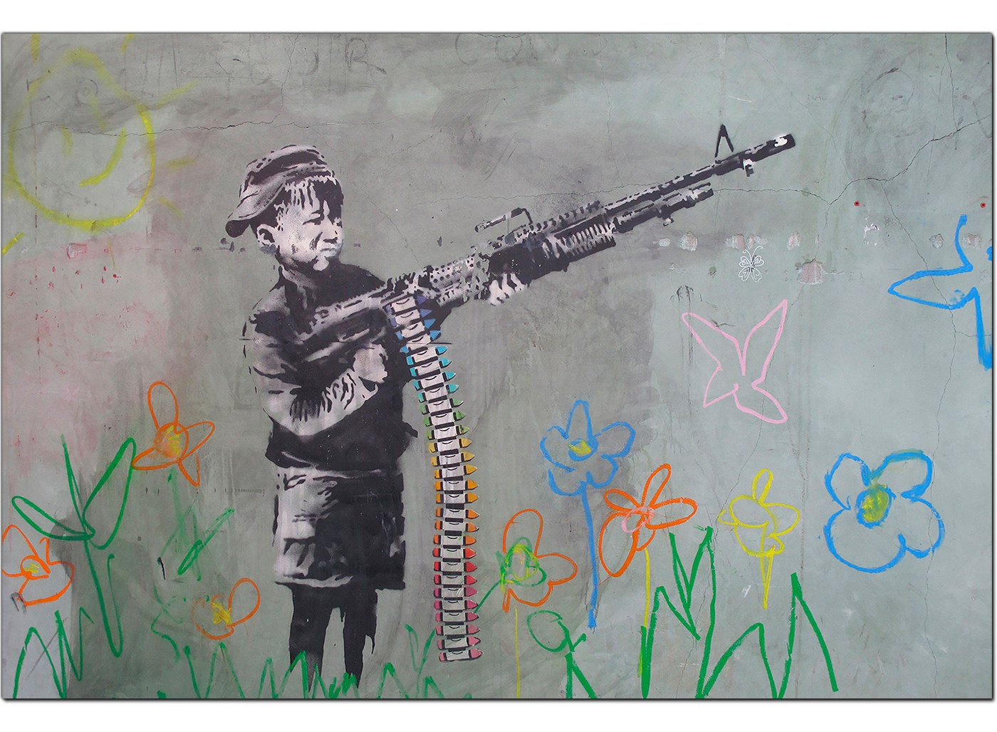 Banksy Canvas Prints Boy With Crayon Gun
