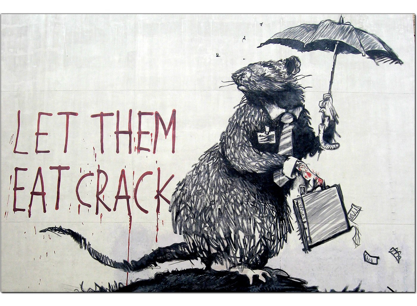 Banksy Canvas Prints Let Them Eat Crack