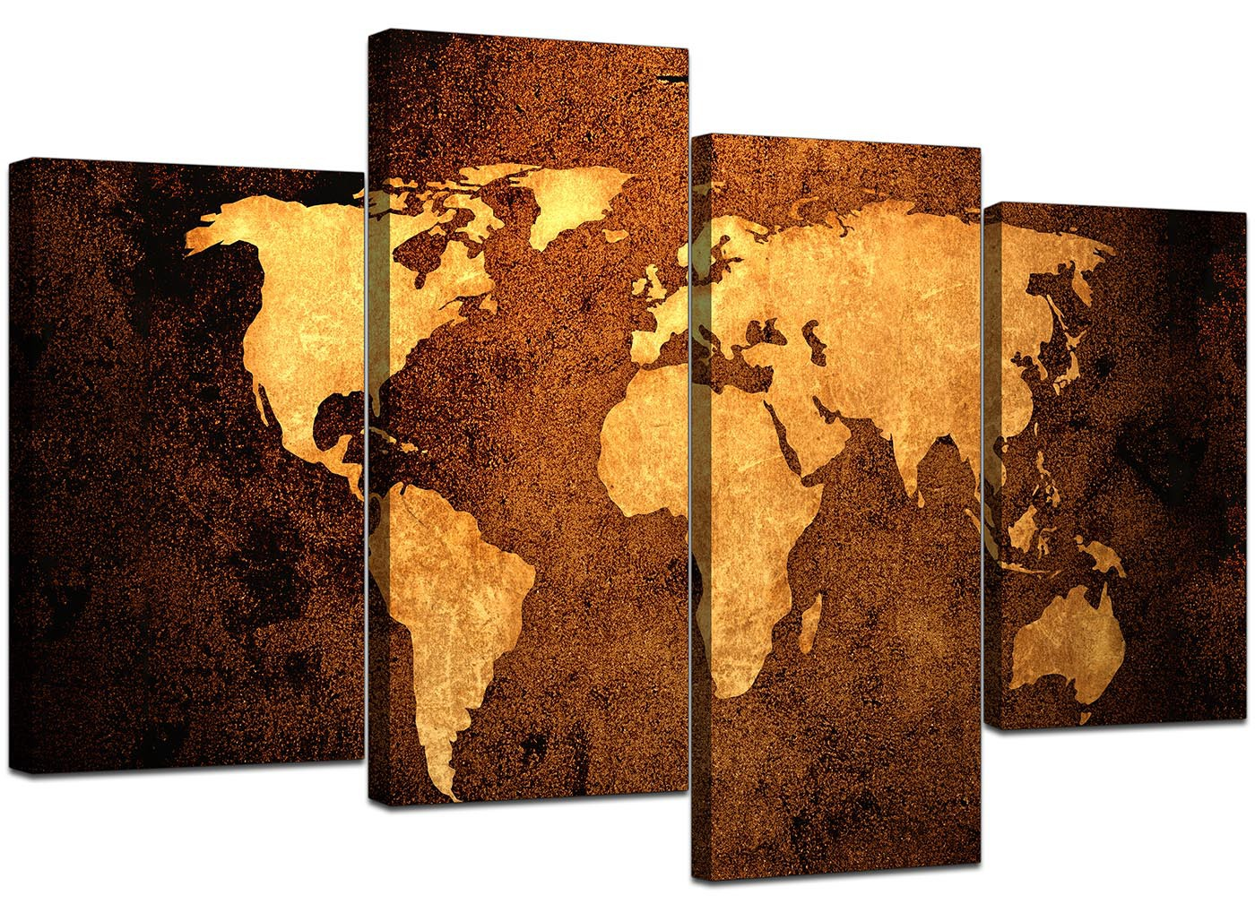 Old World Map Canvas.Old World Map Brown Cream Canvas