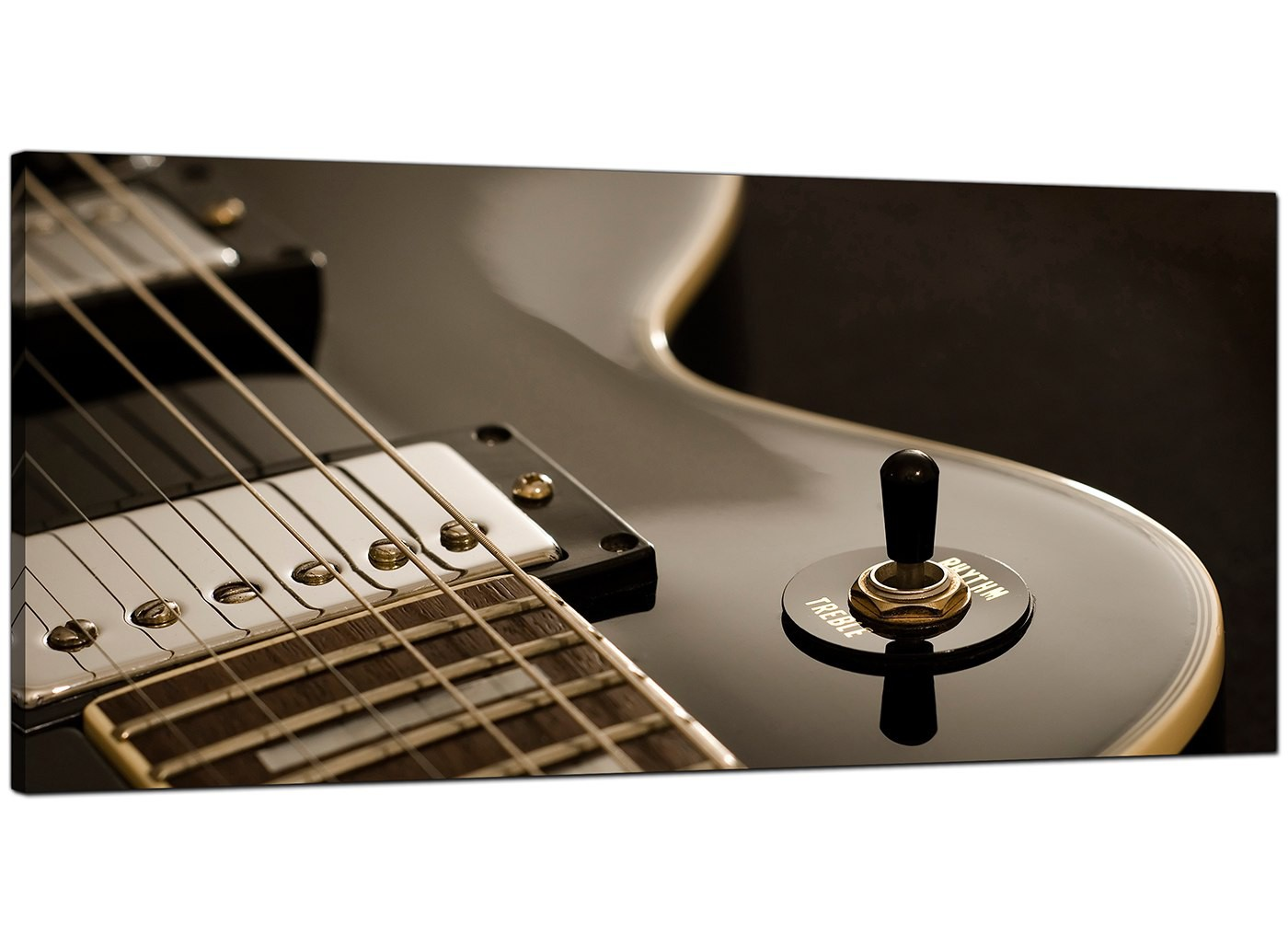 Large black and white canvas pictures of an electric guitar for Cheap black and white prints