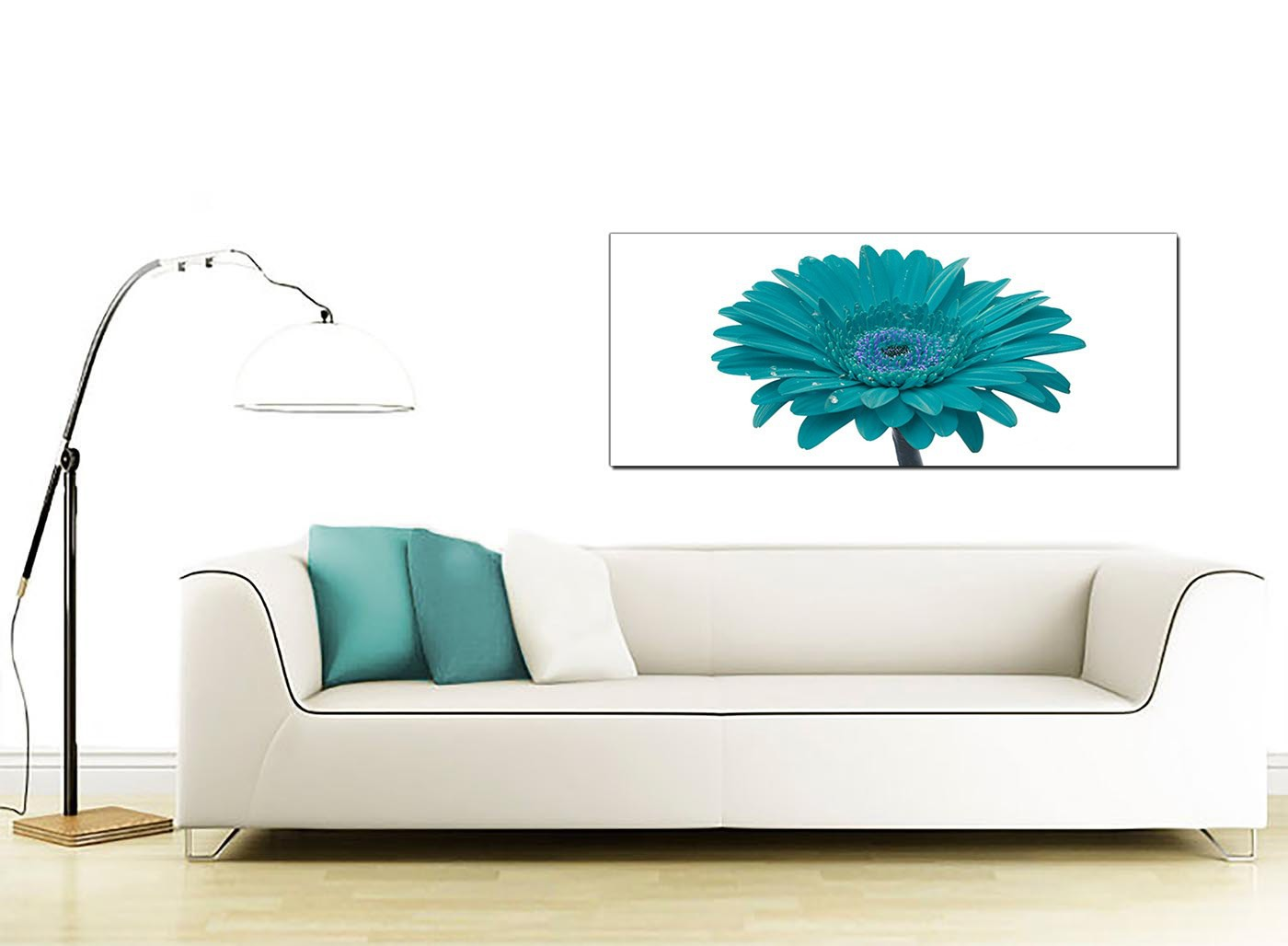 cheap teal canvas pictures of a daisy flower. Black Bedroom Furniture Sets. Home Design Ideas