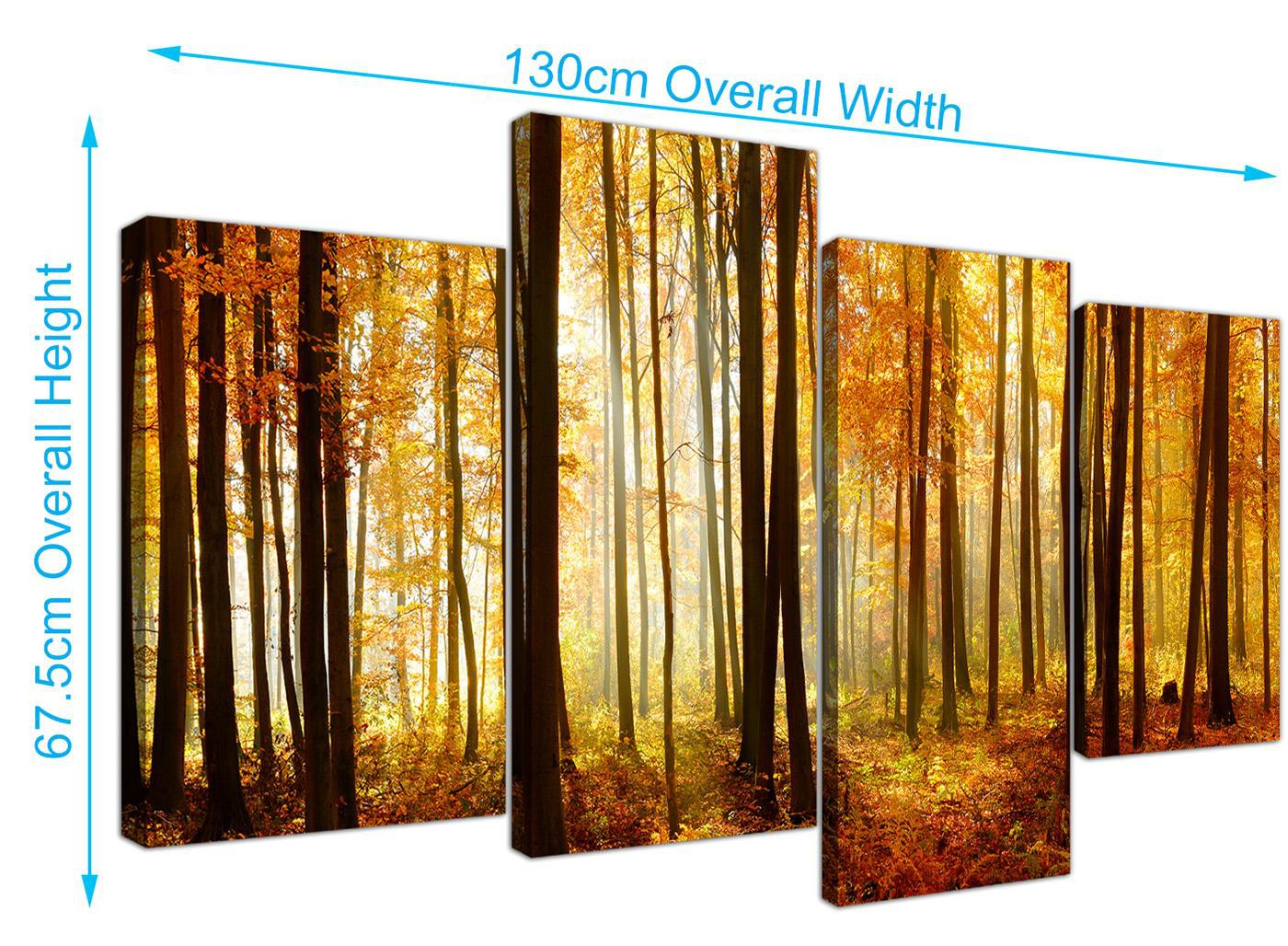 Wallfillers Modern Black White and Red Woodland Scenes Canvas Prints ...