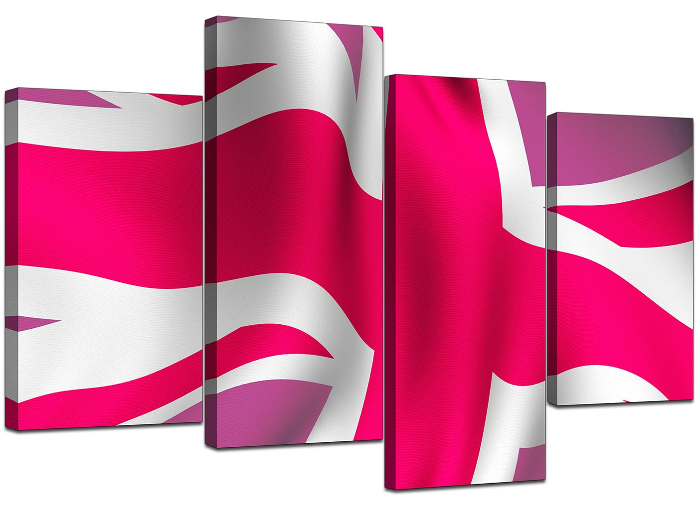 Modern union jack canvas prints in pink for bedroom for Pink union jack bedding