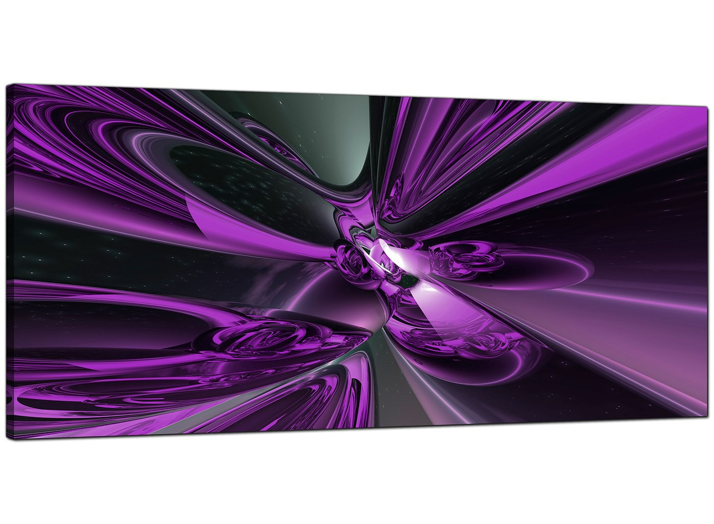 Purple Abstract Canvas Art 120cm X 50cm Cenop