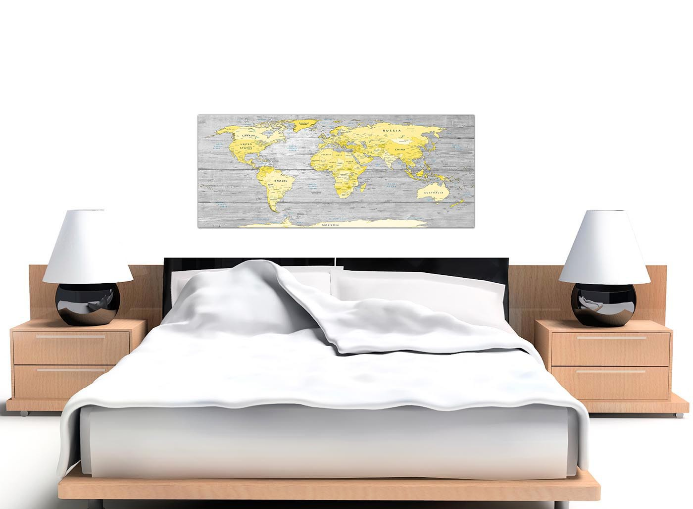 928cd14088f Display Gallery Item 3 · Cheap Yellow Grey Large Yellow Grey Map Of World  Atlas Canvas Wall Art Print Maps Canvas Display Gallery Item 4