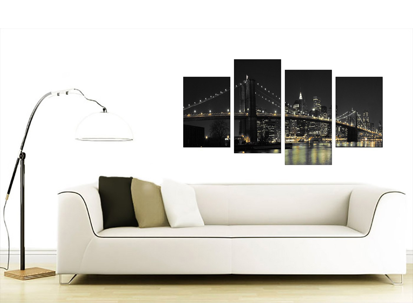 Canvas wall art of new york for your office 4 part for Best place to buy canvas prints