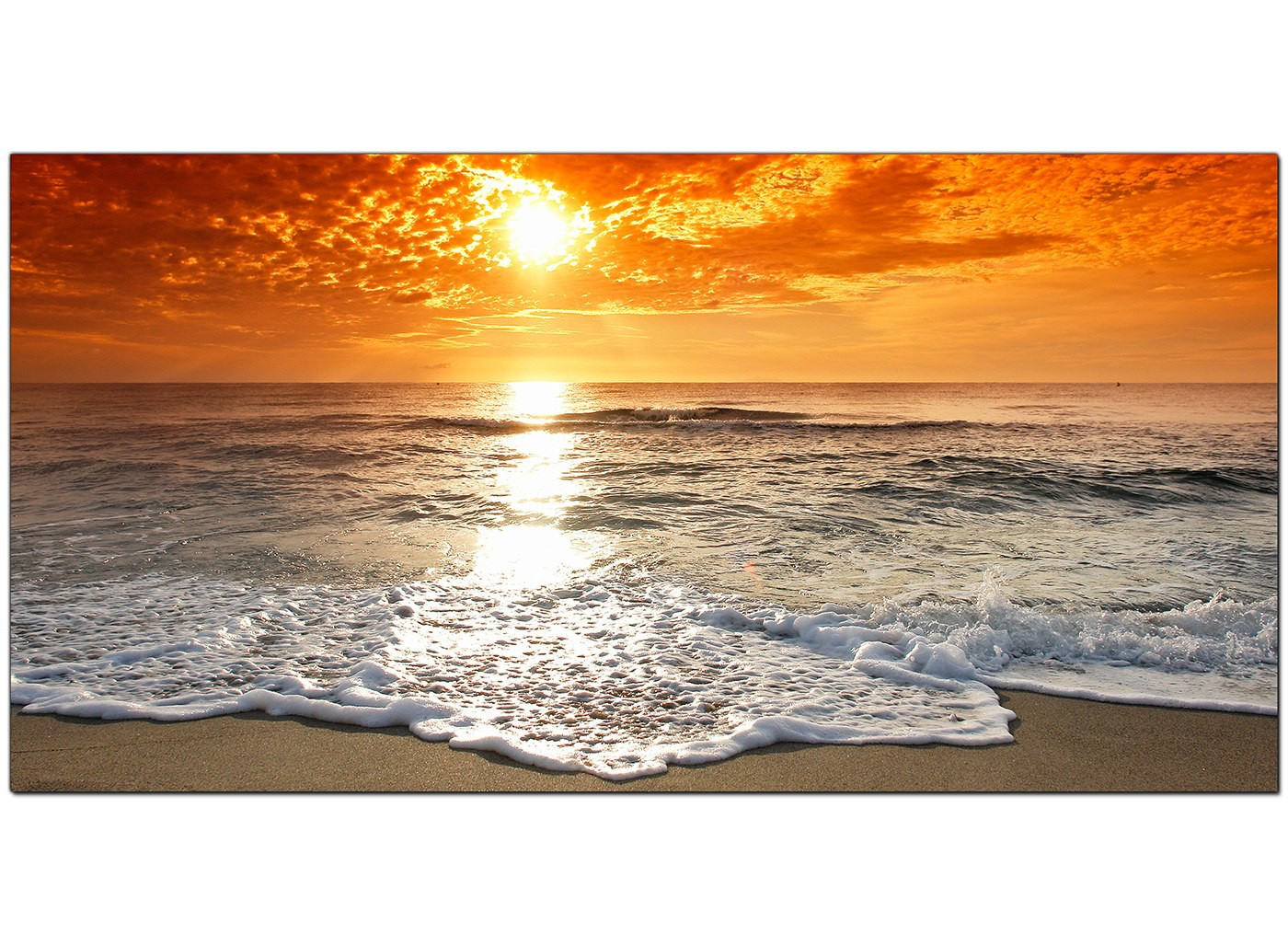 Cheap Canvas Pictures Of A Beach Sunset For Your Bedroom
