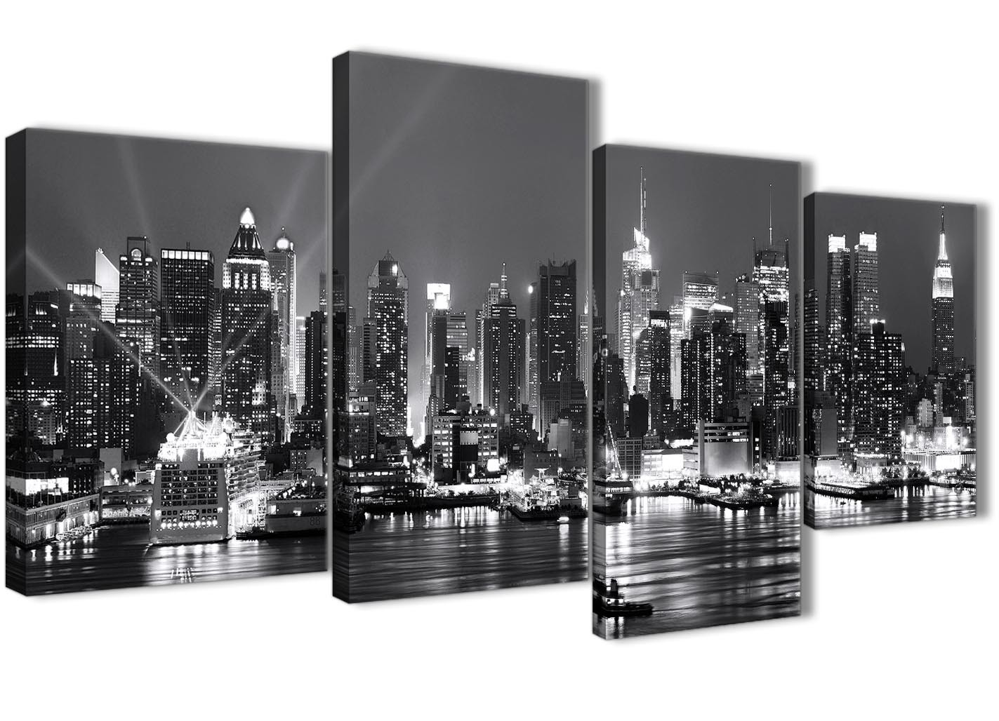large new york hudson river skyline canvas art prints - landscape
