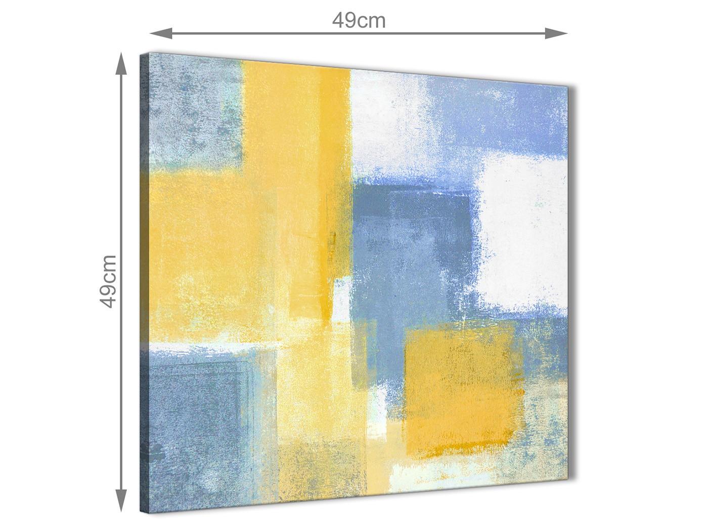 Mustard yellow blue bathroom canvas wall art accessories for Mustard bathroom accessories uk