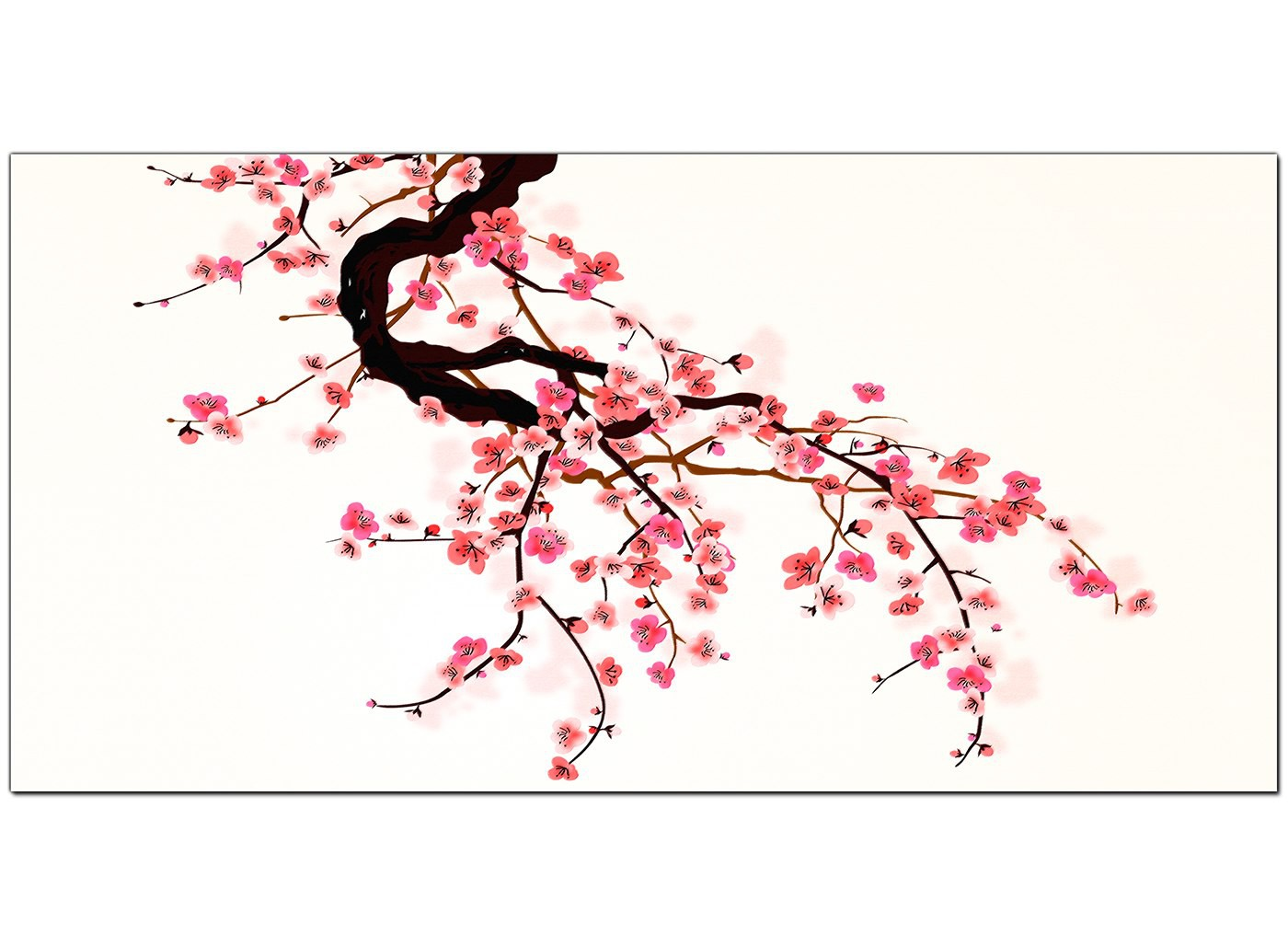 Large Pink And White Canvas Pictures Of Cherry Blossom