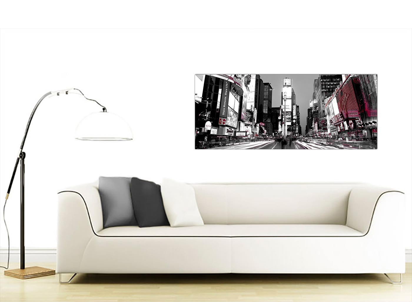 Cheap black and white canvas prints of new york times square for Cheap black and white prints