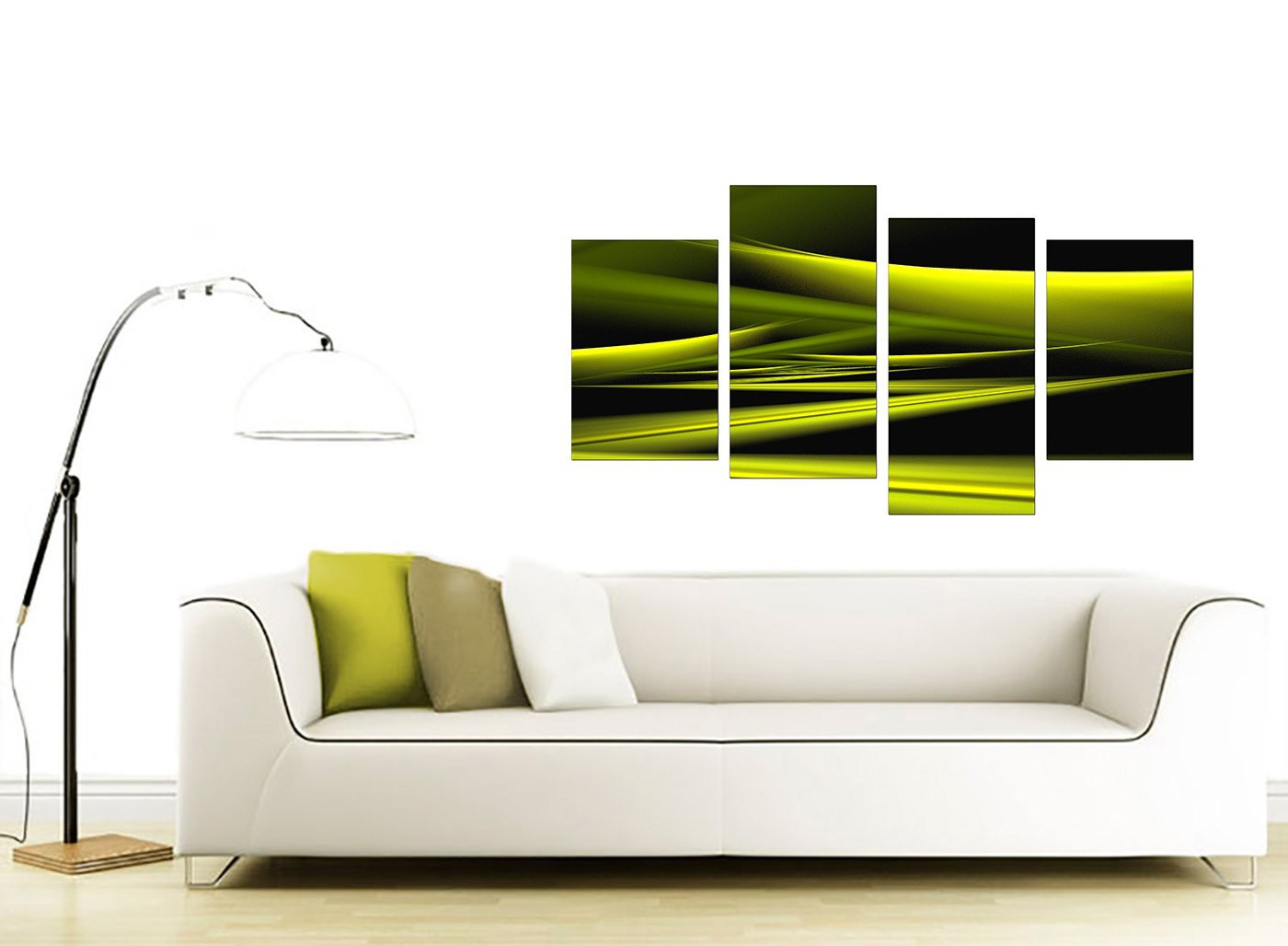 abstract canvas pictures in green for your living room. Black Bedroom Furniture Sets. Home Design Ideas