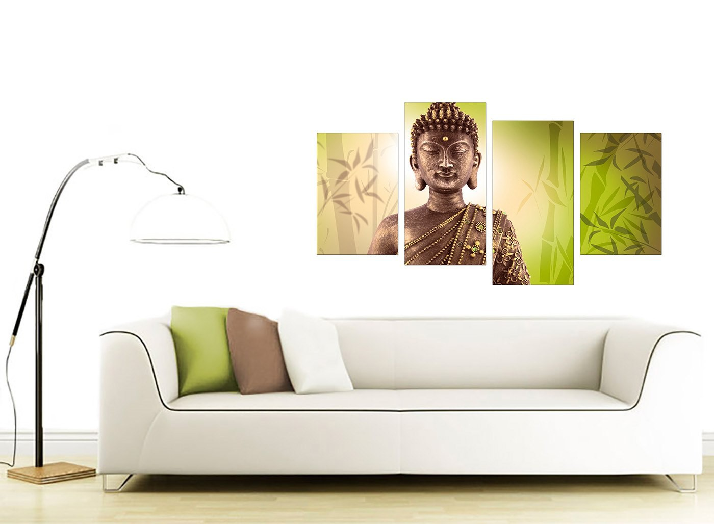 Canvas art of buddha in green for your living room Canvas prints for living room