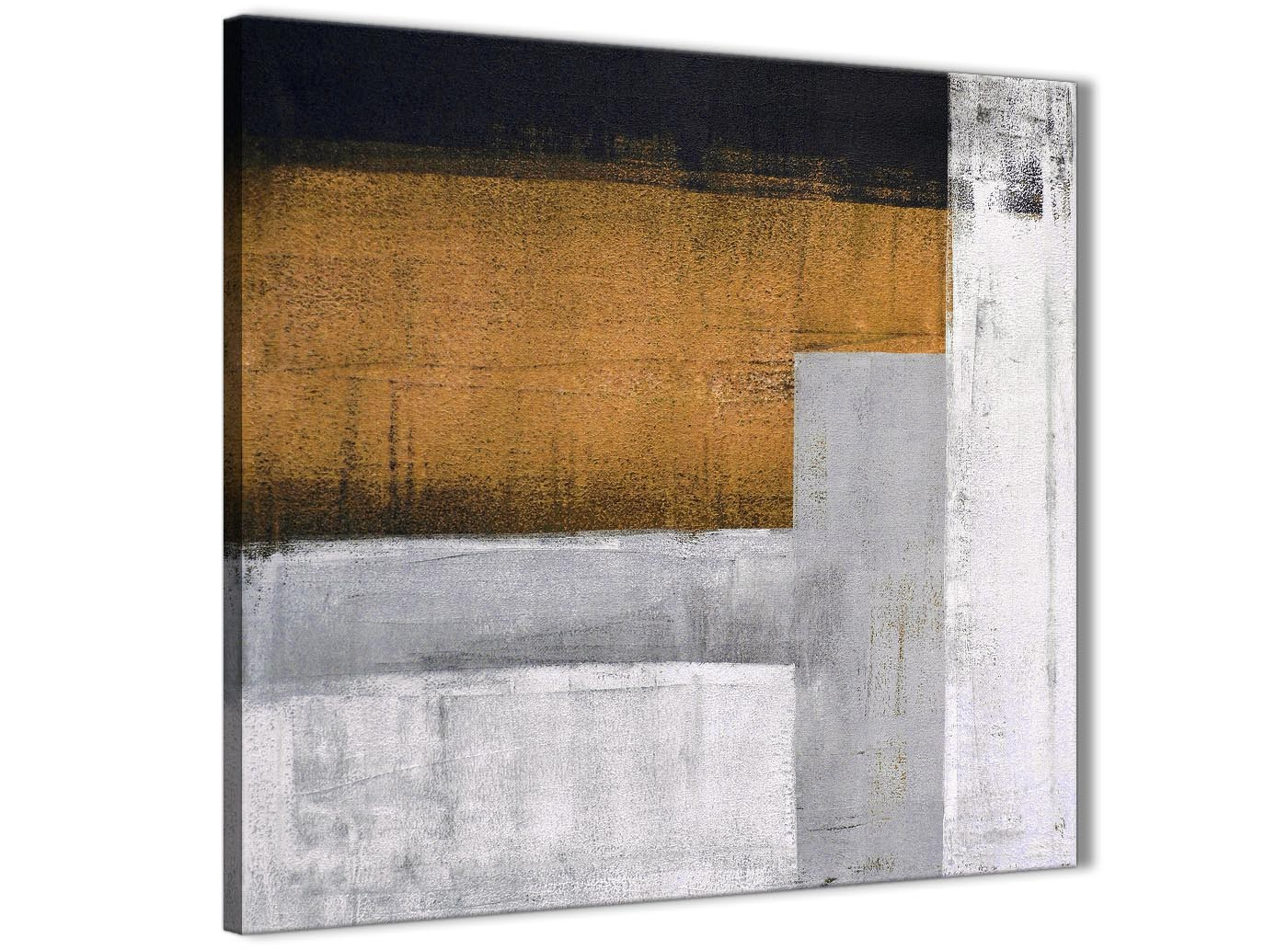 Orange Grey Painting Abstract Office Canvas Pictures Decor