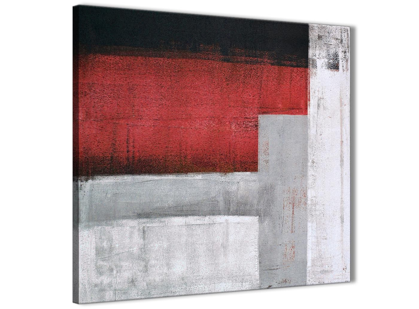 Red Grey Painting Abstract Dining Room Canvas Pictures