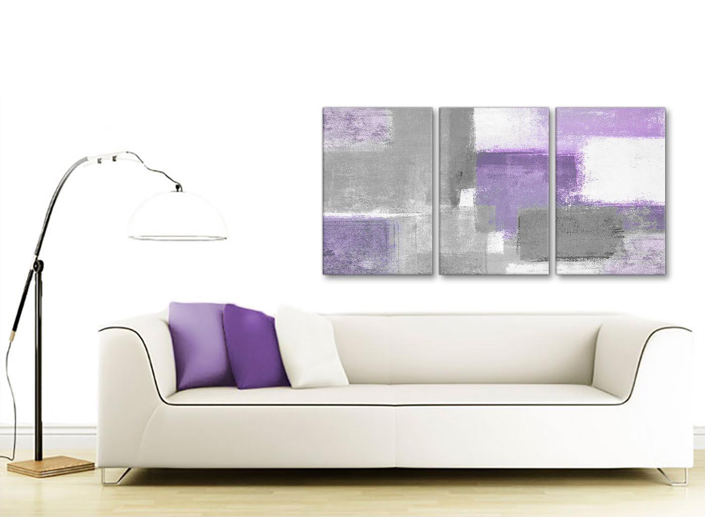 3 Piece Purple Grey Painting Kitchen Canvas Pictures Decor