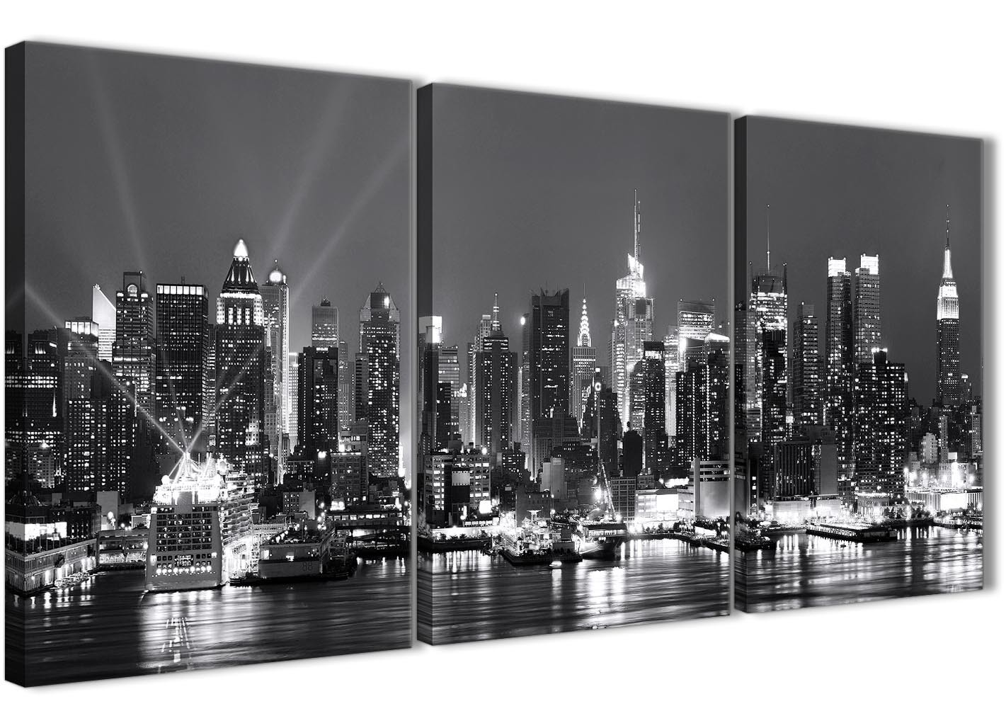 3 Piece Landscape Canvas Wall Art New York Hudson River