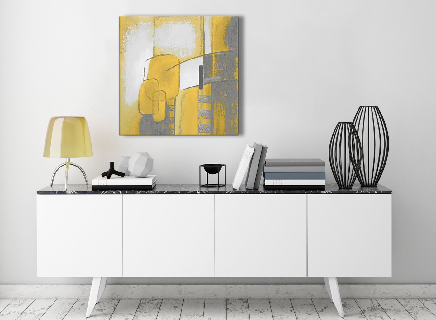 Mustard Home Decor Mustard Yellow Grey Painting Hallway Canvas Wall Art Decor