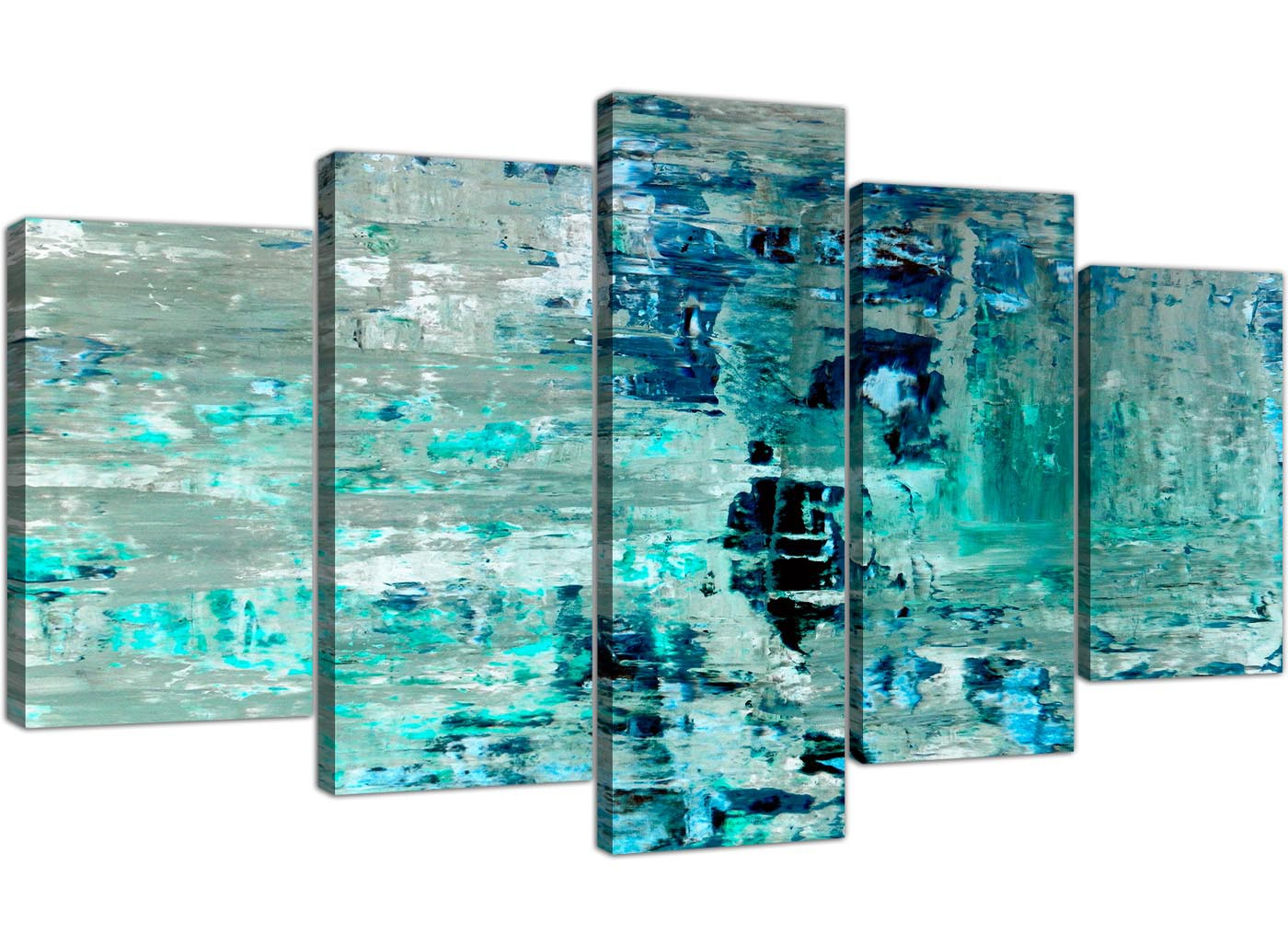 Extra Large Turquoise Teal Abstract Painting Wall Art